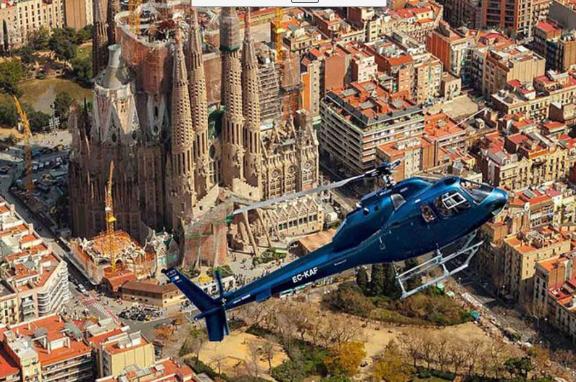 hélicoptère Barcelone