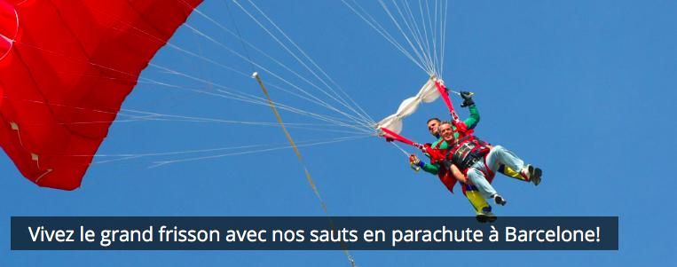 saut en parachute Barcelone